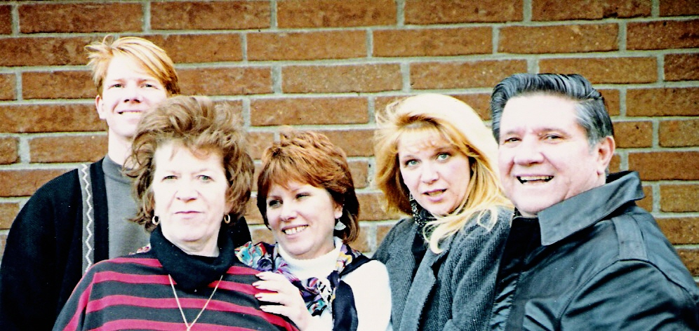 Jim, Virginia, Di, Sue, Woody, 1988